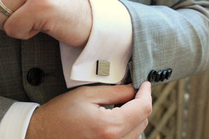 Square Salvaged Wood Cufflinks