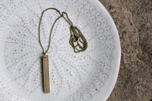 Salvaged Wood Bar Necklace