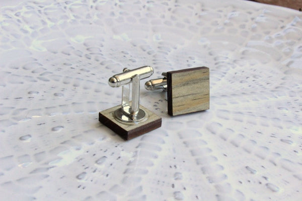 Bold Salvaged Wood Cufflinks