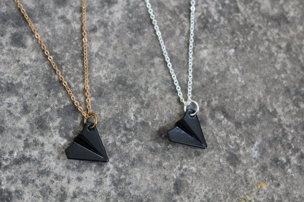 Unisex Paper Airplane Necklace
