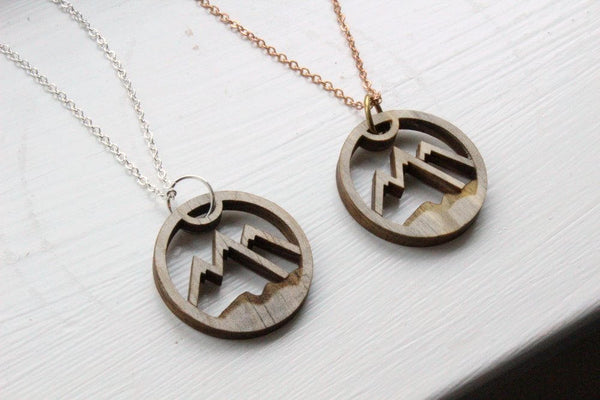 Salvaged Beetle Pine Mountains Necklace
