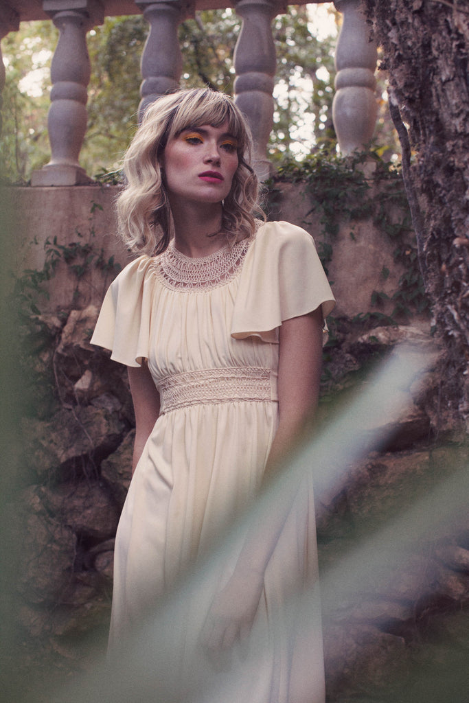 The Secret Garden. Wardrobe via Dalena Vintage. Photography by Helen Jade Photography.