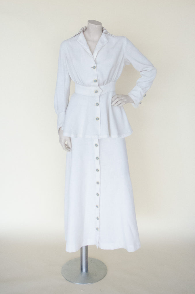 Antique Edwardian walking suit from Dalena Vintage