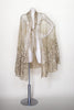 Antique art deco 1920s gold metallic cape