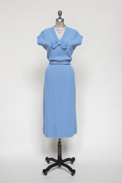 Vintage 1940s sweater dress from Dalena Vintage