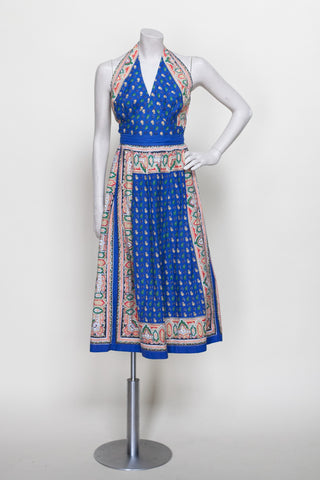 1940s halter top and skirt set