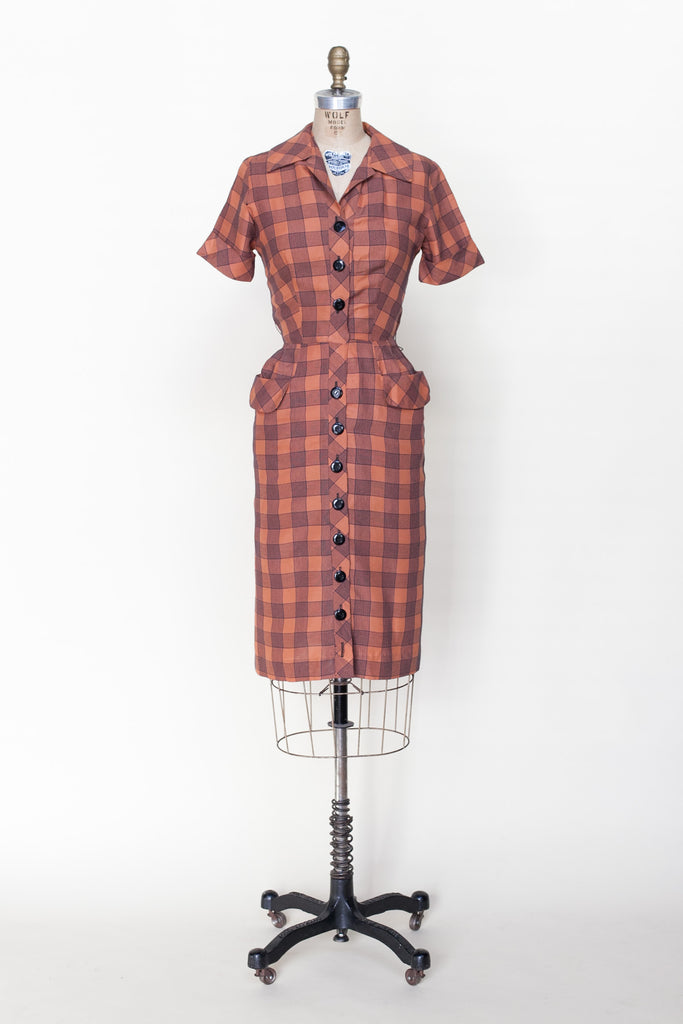 1940s plaid dress from Velvetyogurt