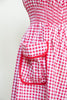 Vintage 1940s gingham day dress from Dalena Vintage