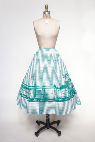 1940s novelty circle skirt from Dalena Vintage