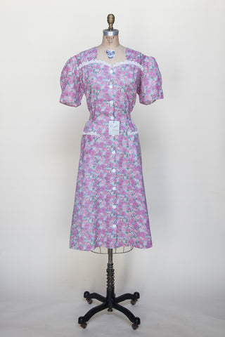 1940s day dress from Dalena Vintage