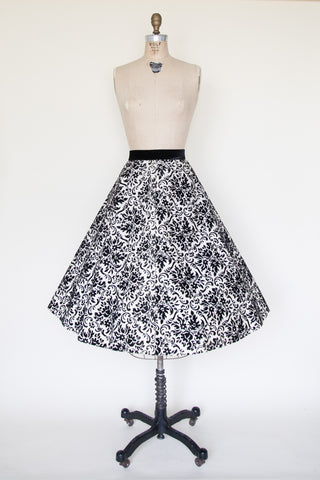 Vintage 1950s holiday skirt