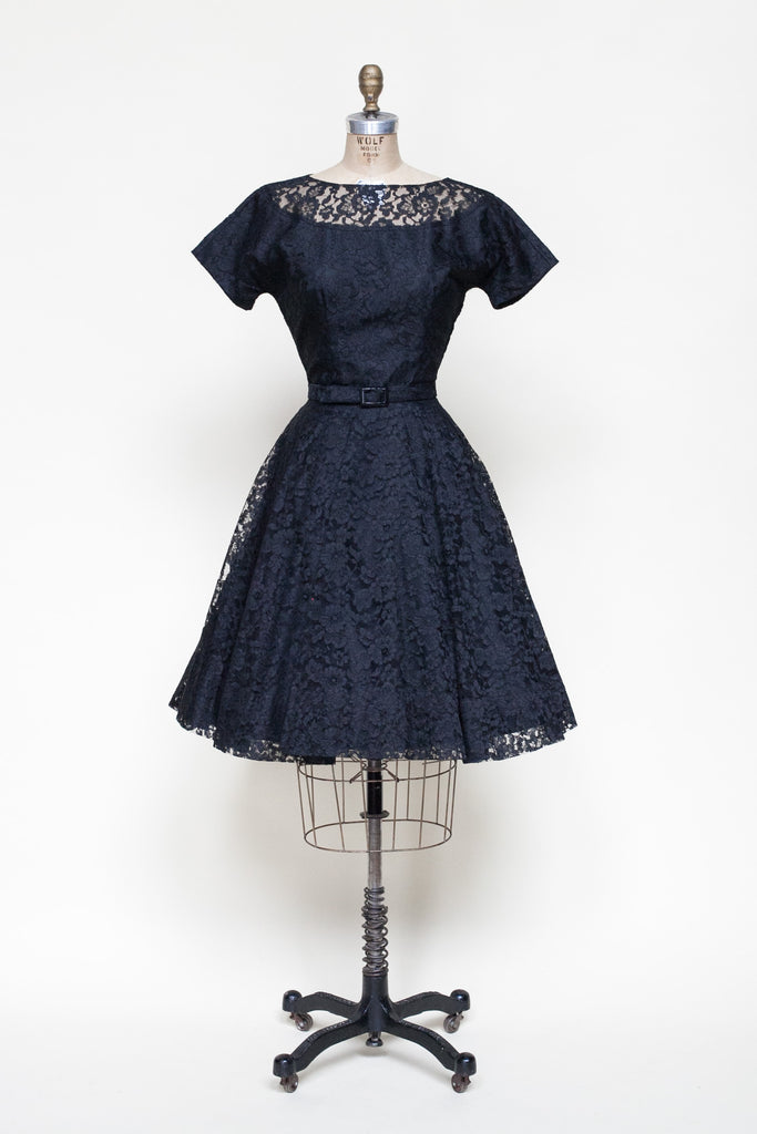 Vintage 1950s lace dress from Dalena Vintage