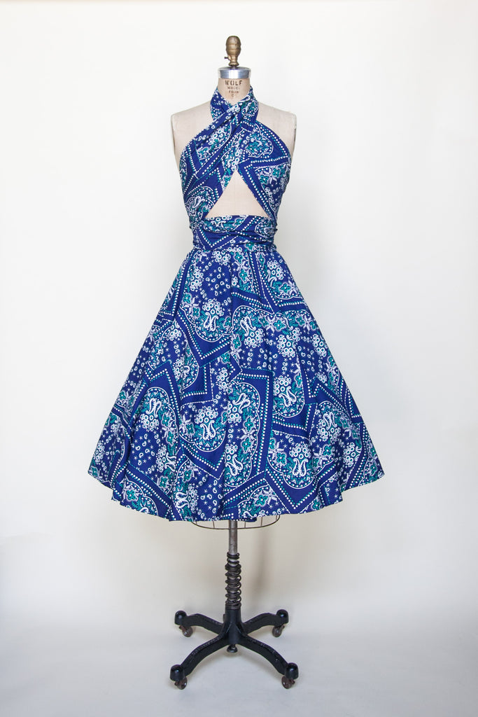 Vintage 1950s convertible dress from Velvetyogurt