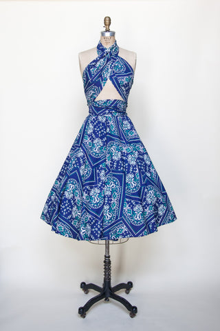 Vintage 1950s convertible dress from Dalena Vintage