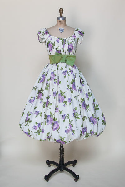 Vintage 1950s bubble skirt dress