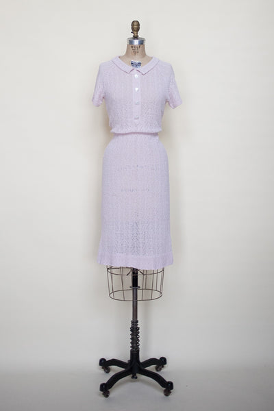1950s knit sweater dress