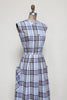 1950s plaid day dress from Dalena Vintage