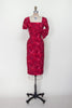 1950s red cocktail dress from Dalena Vintage
