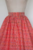 1950s red holiday skirt from Dalena Vintage