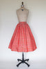1950s red holiday skirt from Onebigfishgreenevents