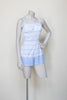 Vintage Rose Marie Reid playsuit in white and blue