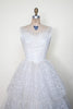 1950s lace wedding dress