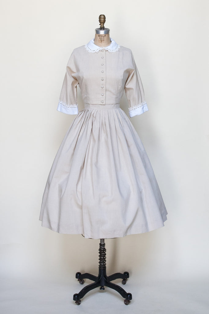 1950s Brentshire day dress from Dalena Vintage