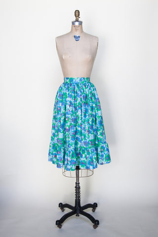 Vintage 1950s floral skirt from Onebigfishgreenevents