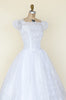 1950s tea length wedding dress from Onebigfishgreenevents