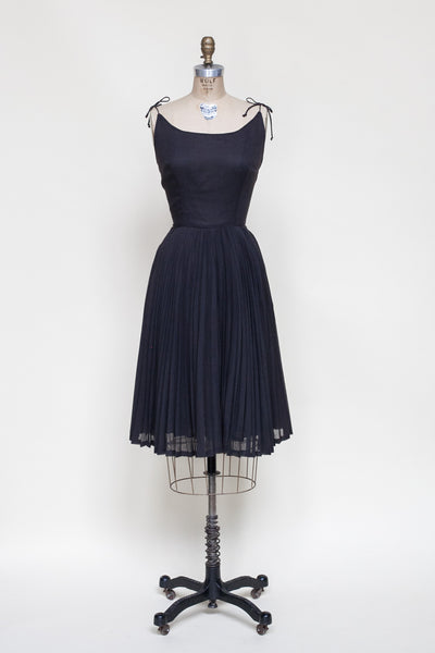 1960s black sun dress from Dalena Vintage