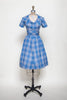 Vintage 1960s plaid day dress from Onebigfishgreenevents