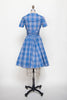 Vintage 1960s plaid day dress from Dalena Vintage