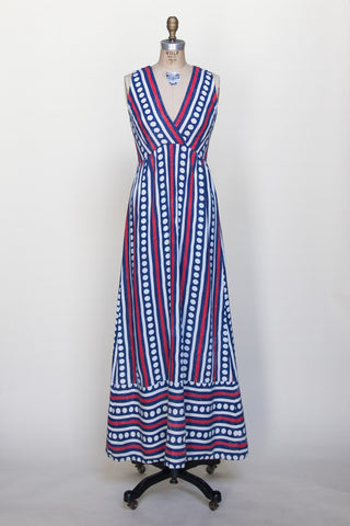 Vintage 1960s linen maxi dress from Dalena Vintage