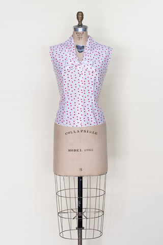Vintage 1960s polka dot blouse from Dalena Vintage