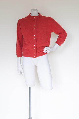 1950s orange cardigan from Onebigfishgreenevents