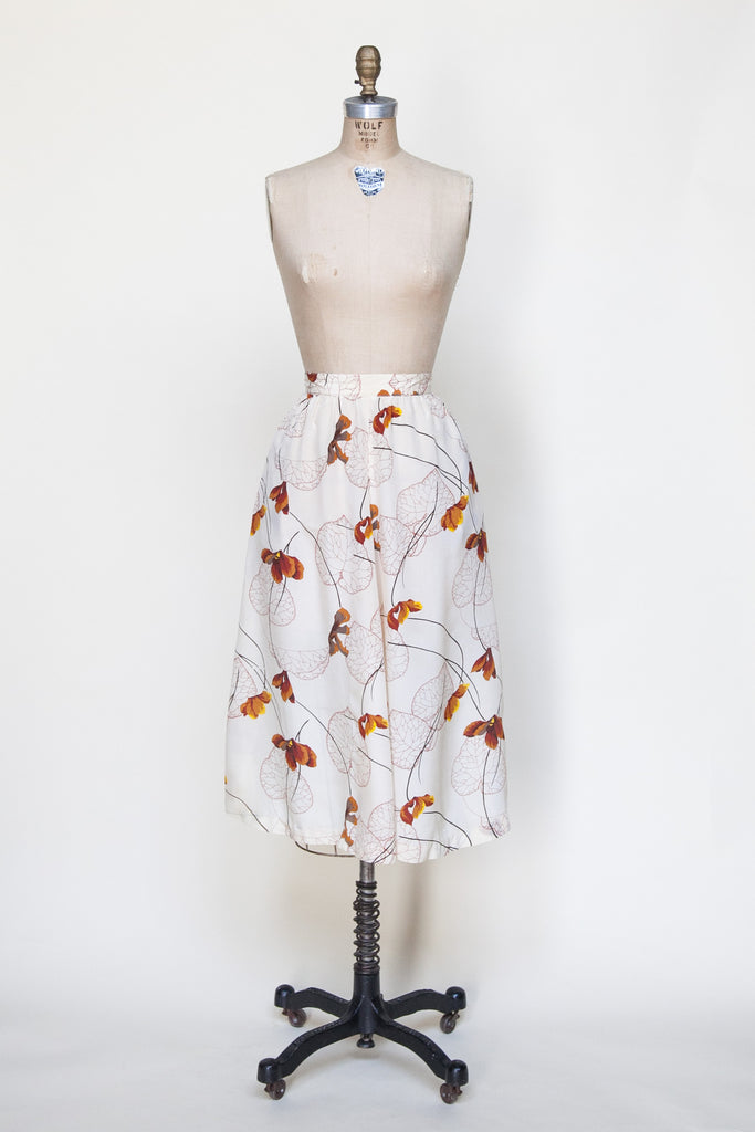 1970s autumn leaf skirt from Dalena Vintage
