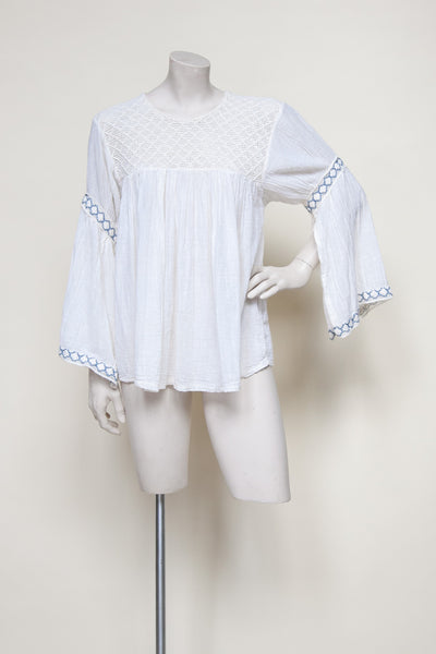 Vintage 1970s bell sleeved blouse from Dalena Vintage