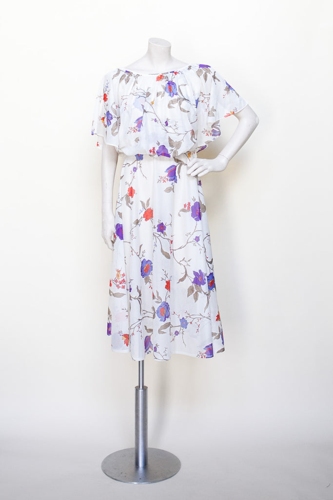 1970s floral dress from Dalena Vintage