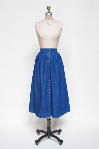 1980s denim skirt from Dalena Vintage