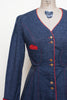 1970s denim dress from Dalena Vintage