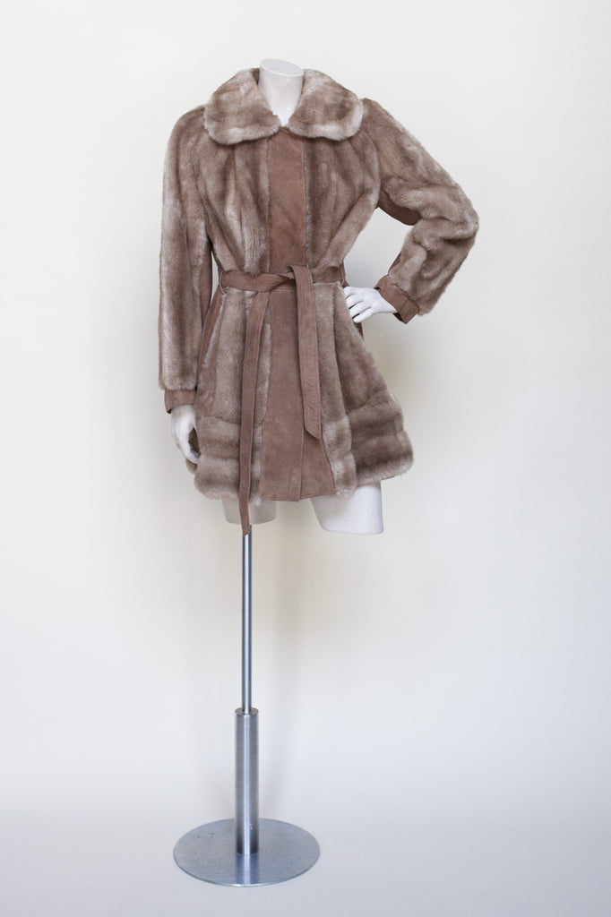 1960s faux fur coat from England
