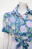 Vintage 1970s floral crop top by Dalena Vintage