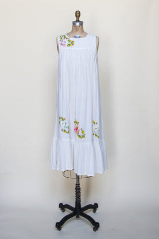 1970s handpainted Mexican dress from Dalena Vintage