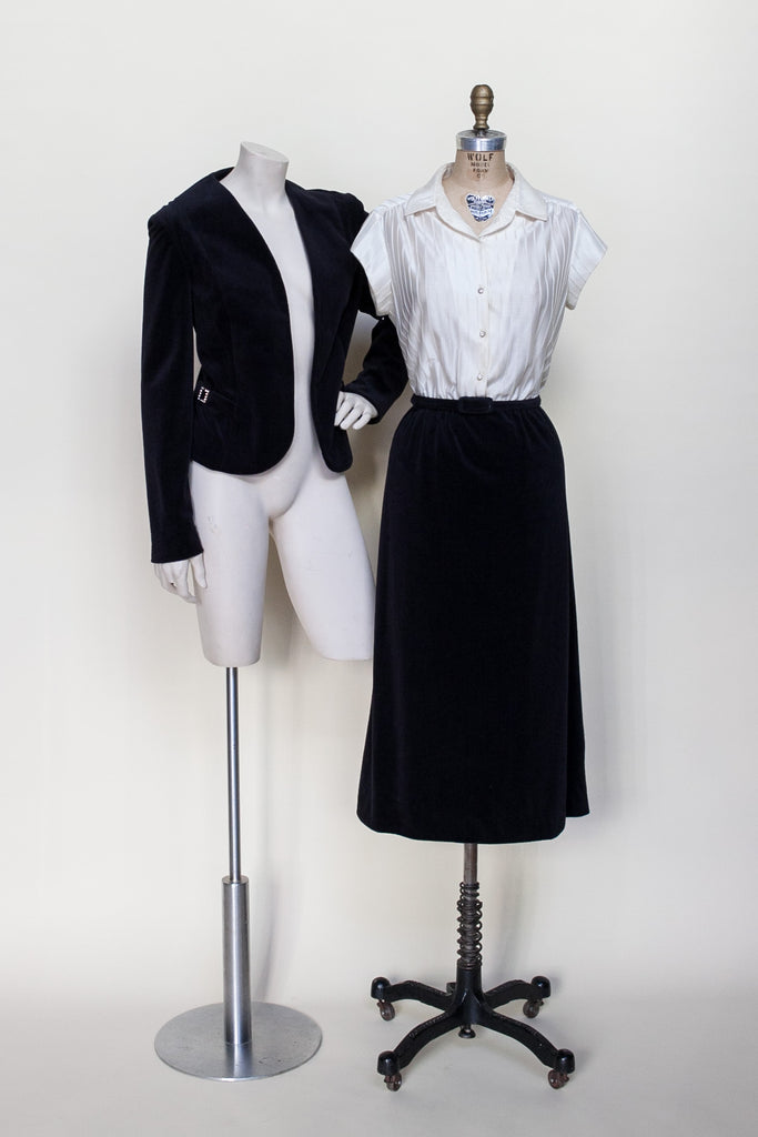 1970s Leslie Fay dress and jacket set
