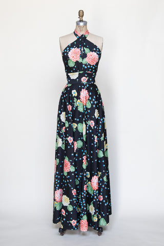 1970s Lillie Ruben maxi dress from Velvetyogurt