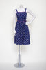 1970s navy cotton day dress