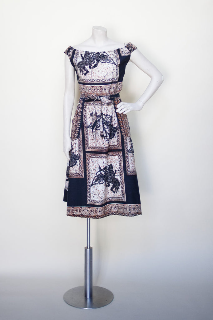 Vintage 1970s batik dress from Dalena Vintage