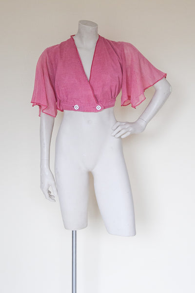 Vintage 1970s crop top from Dalena Vintage