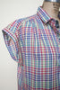 Vintage rainbow gingham blouse from Dalena Vintage
