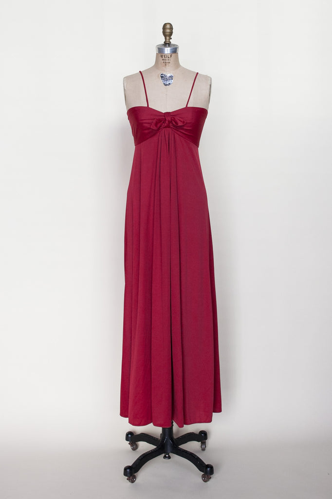 1970s red maxi dress from Dalena Vintage